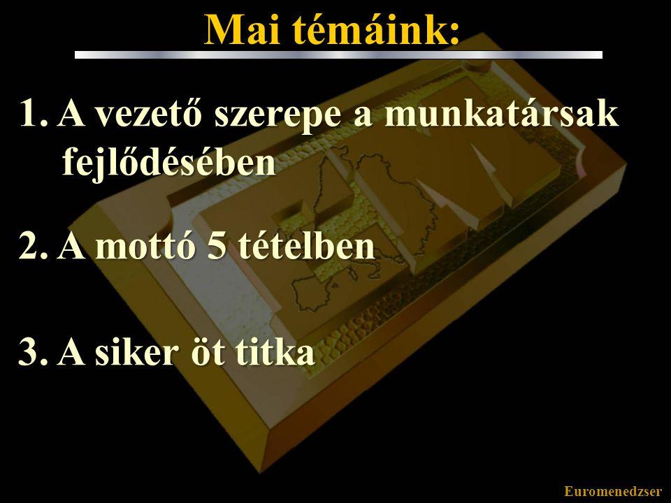 Euromenedzser Mottó 5 tételben III.3.