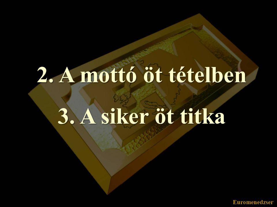 Euromenedzser Mottó 5 tételben V.5. tétel: Ha valami ötödszörre is felkészületlenül ért,...
