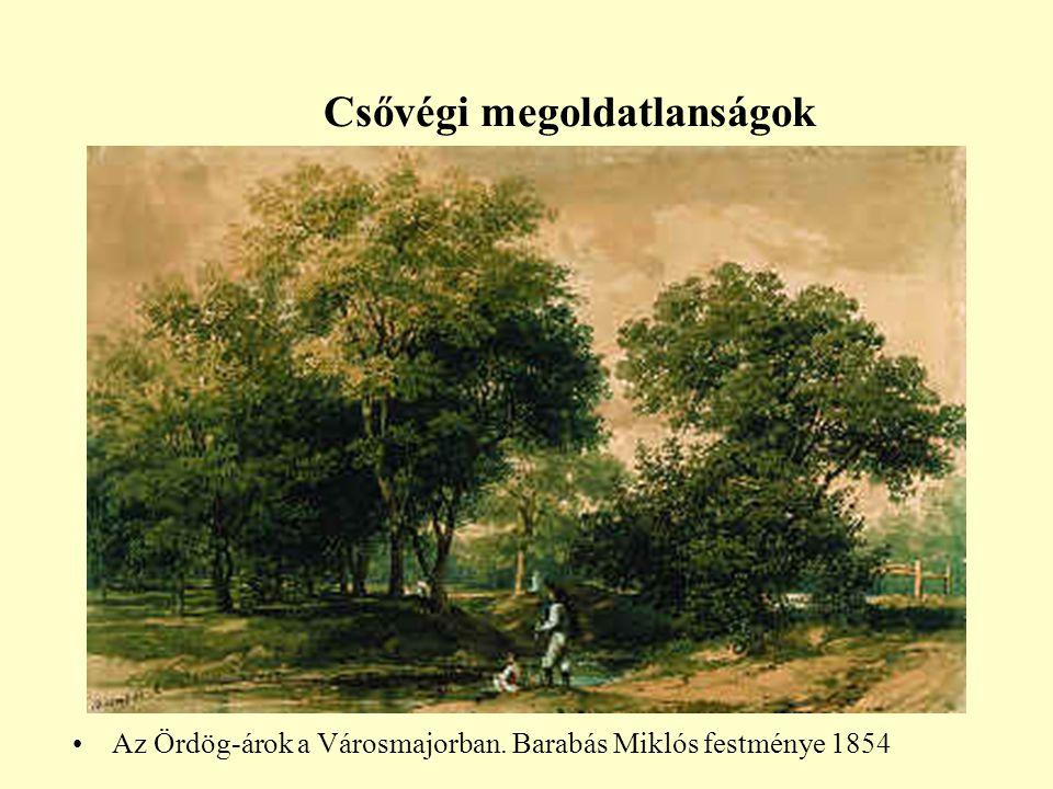 Csővégi megoldatlanságok •Az Ördög-árok a Városmajorban. Barabás Miklós festménye 1854