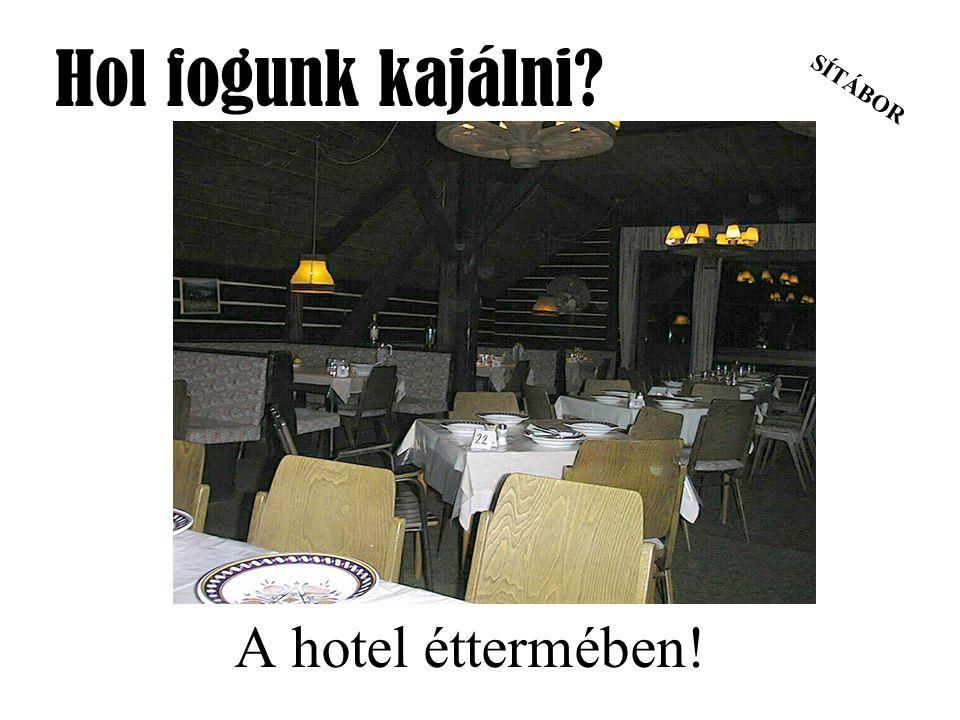 SÍTÁBOR Hol fogunk kajálni? A hotel éttermében!