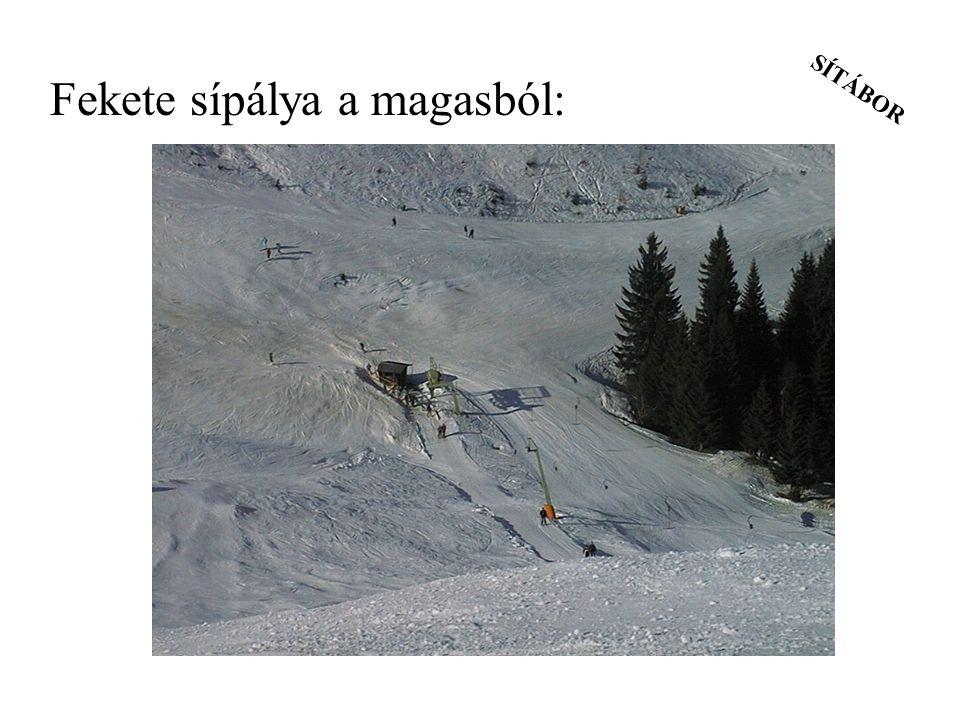 SÍTÁBOR Fekete sípálya a magasból: