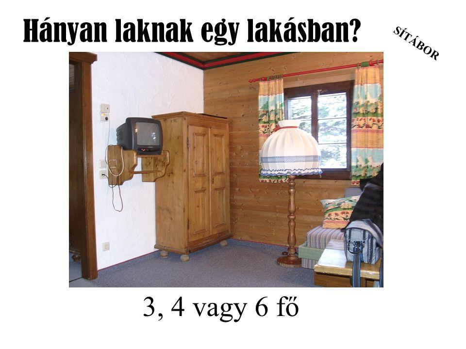 SÍTÁBOR Hányan laknak egy lakásban? 3, 4 vagy 6 fő
