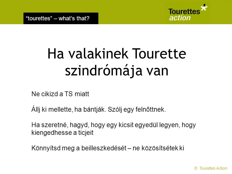 tourettes – what's that.