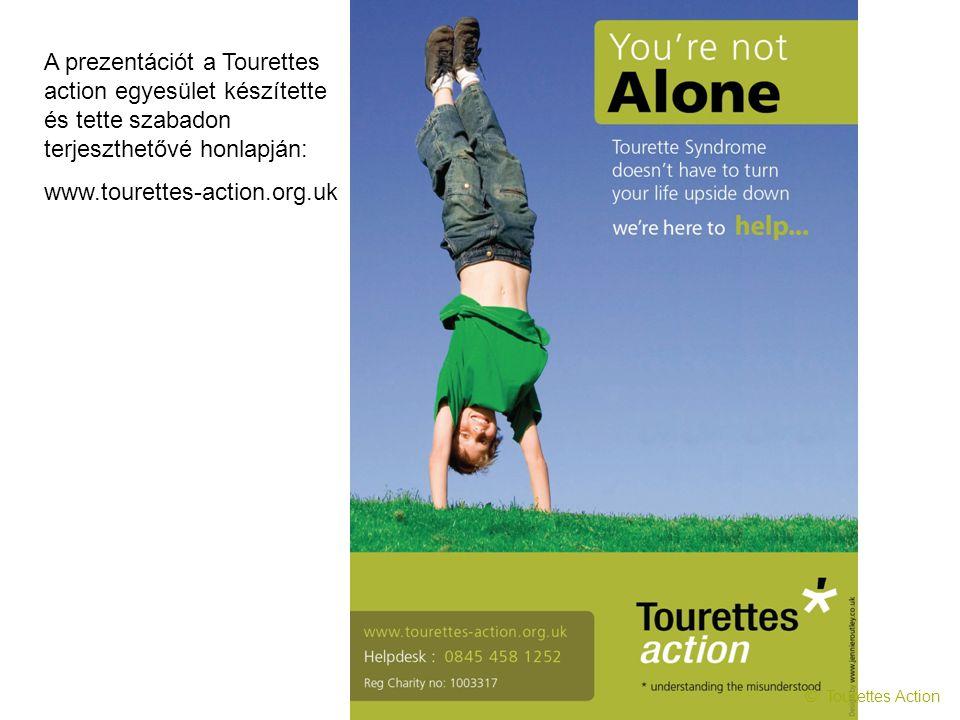A prezentációt a Tourettes action egyesület készítette és tette szabadon terjeszthetővé honlapján: www.tourettes-action.org.uk
