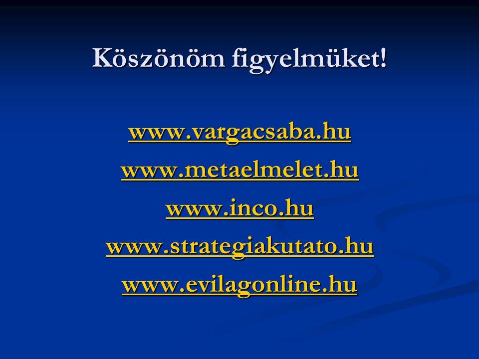 Köszönöm figyelmüket! www.vargacsaba.hu www.metaelmelet.hu www.inco.hu www.strategiakutato.hu www.evilagonline.hu