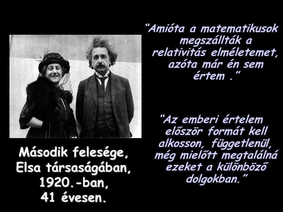 Az Általános Relativitás Elmélete első, az összesen négy lapból álló kéziratnak, amit Einstein, 37 éves korában,1916.