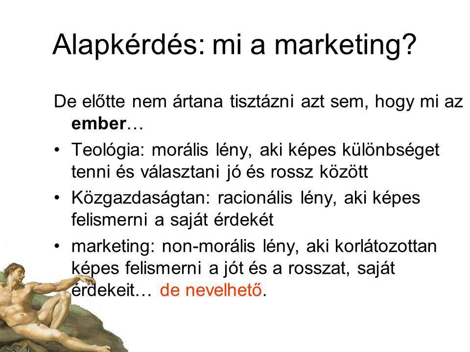 Alapkérdés: mi a marketing.
