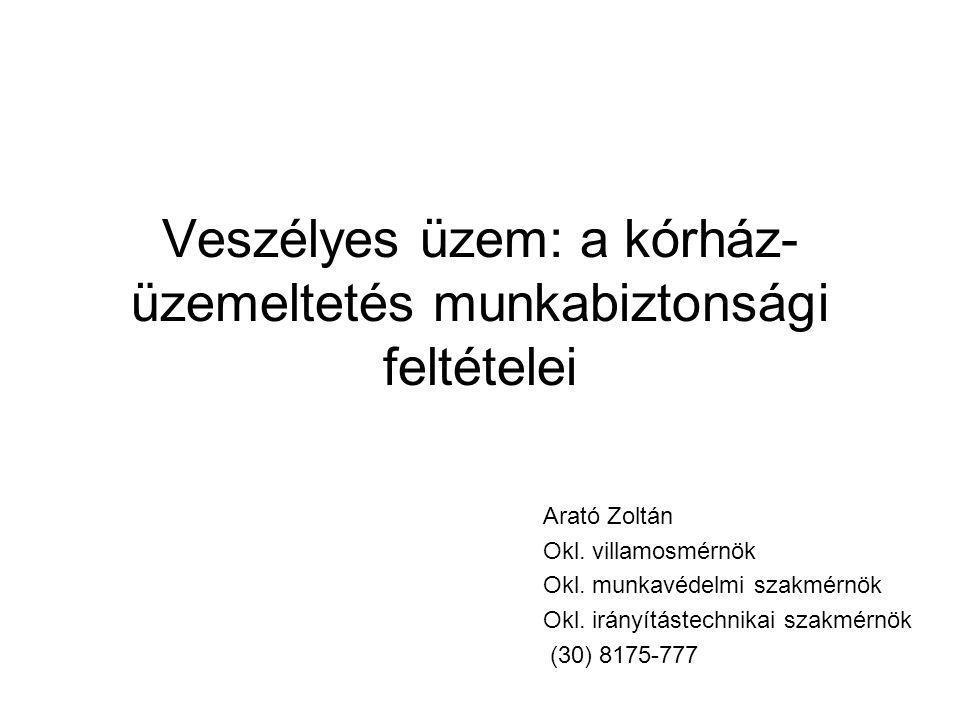 Veszélyes üzem: a kórház- üzemeltetés munkabiztonsági feltételei Arató Zoltán Okl.
