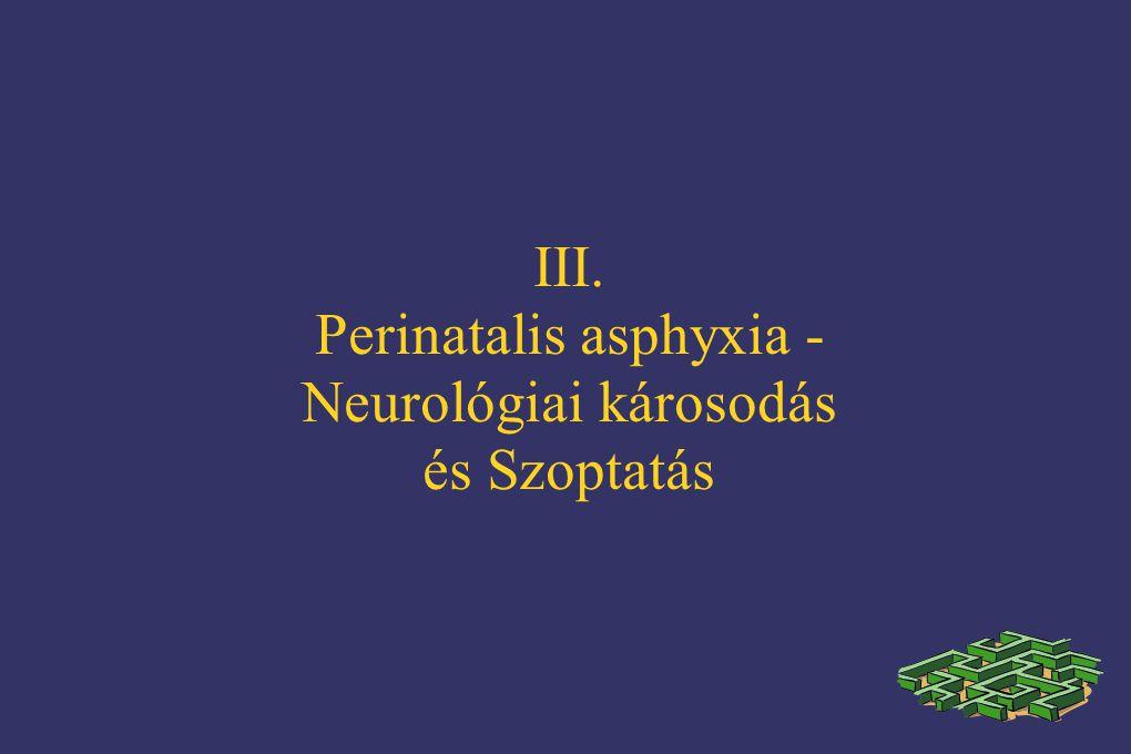 III. Perinatalis asphyxia - Neurológiai károsodás és Szoptatás