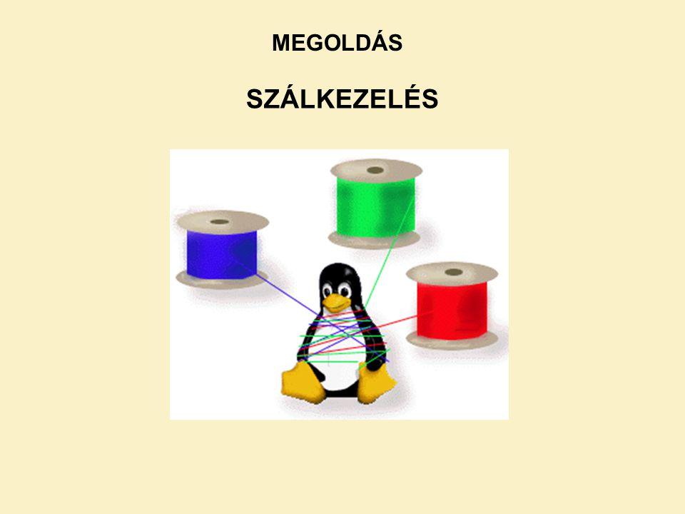MEGOLDÁS SZÁLKEZELÉS