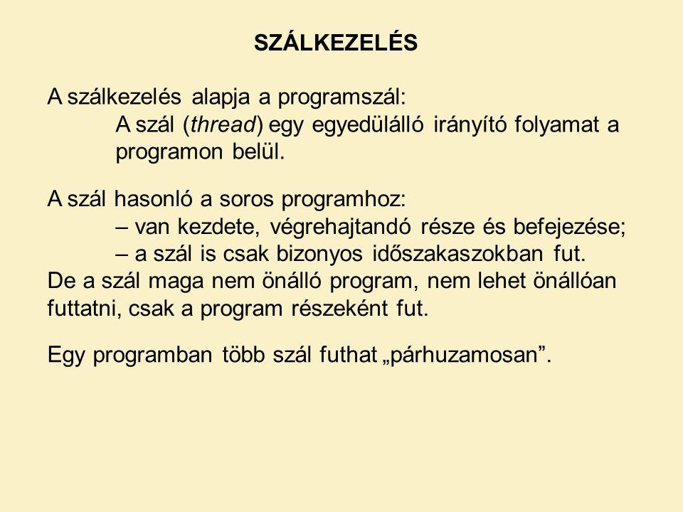 SZÁLKEZELÉS