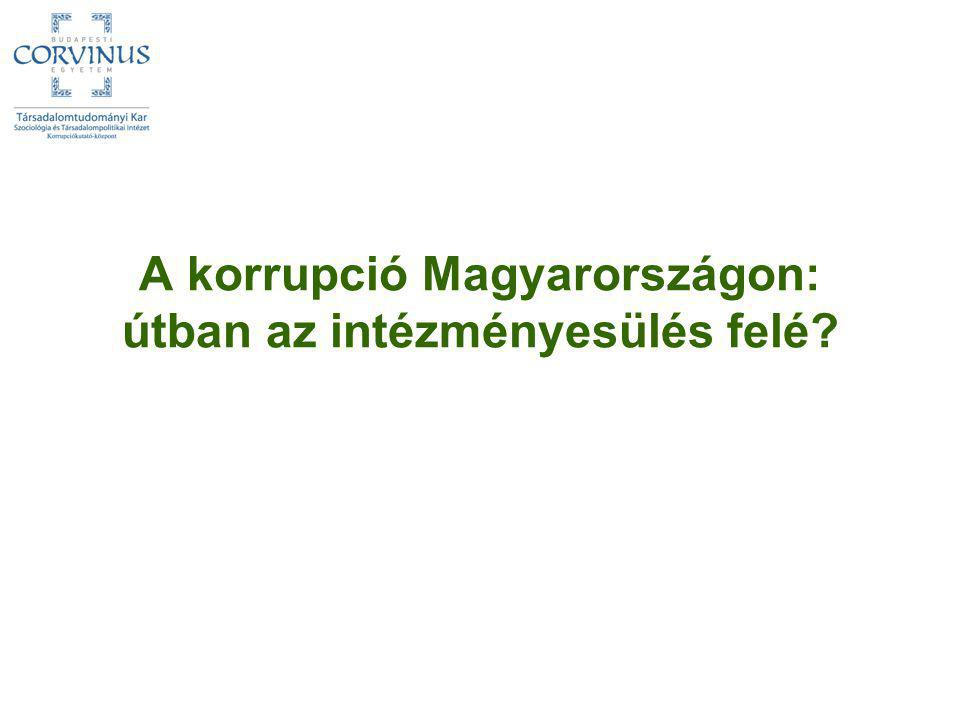 A korrupció Magyarországon: útban az intézményesülés felé?