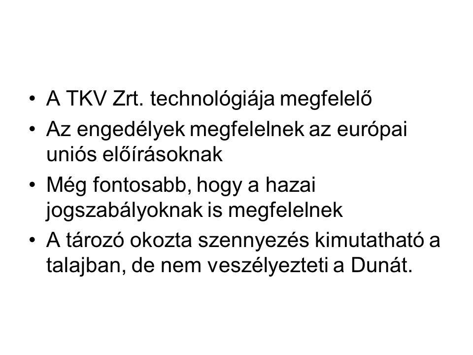 •A TKV Zrt.