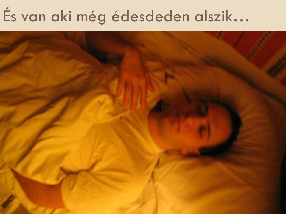 És van aki még édesdeden alszik…