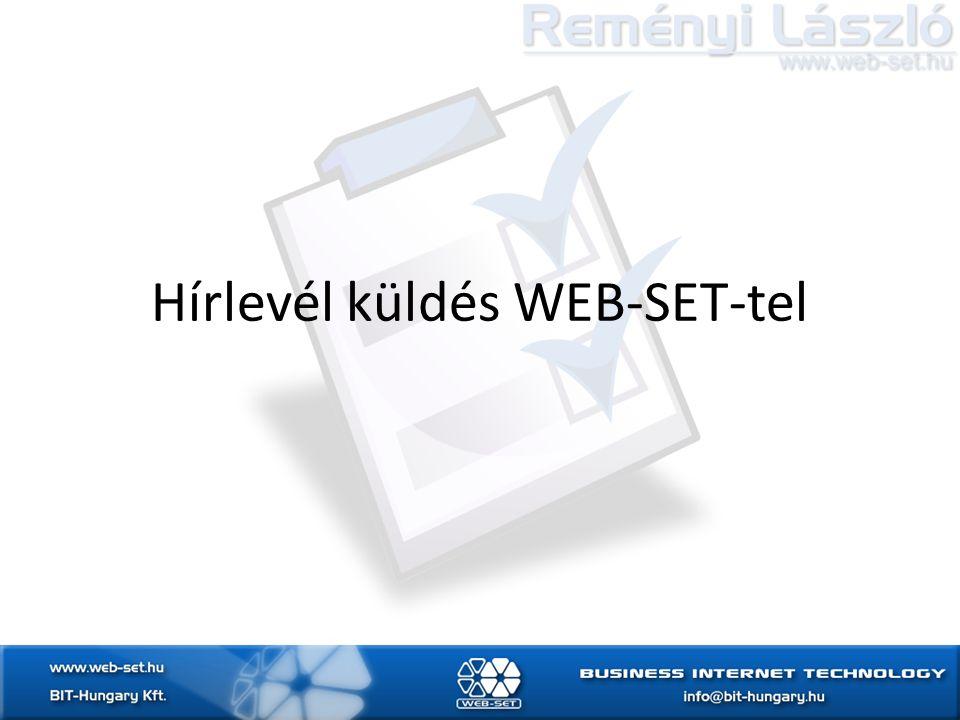 Hírlevél küldés WEB-SET-tel