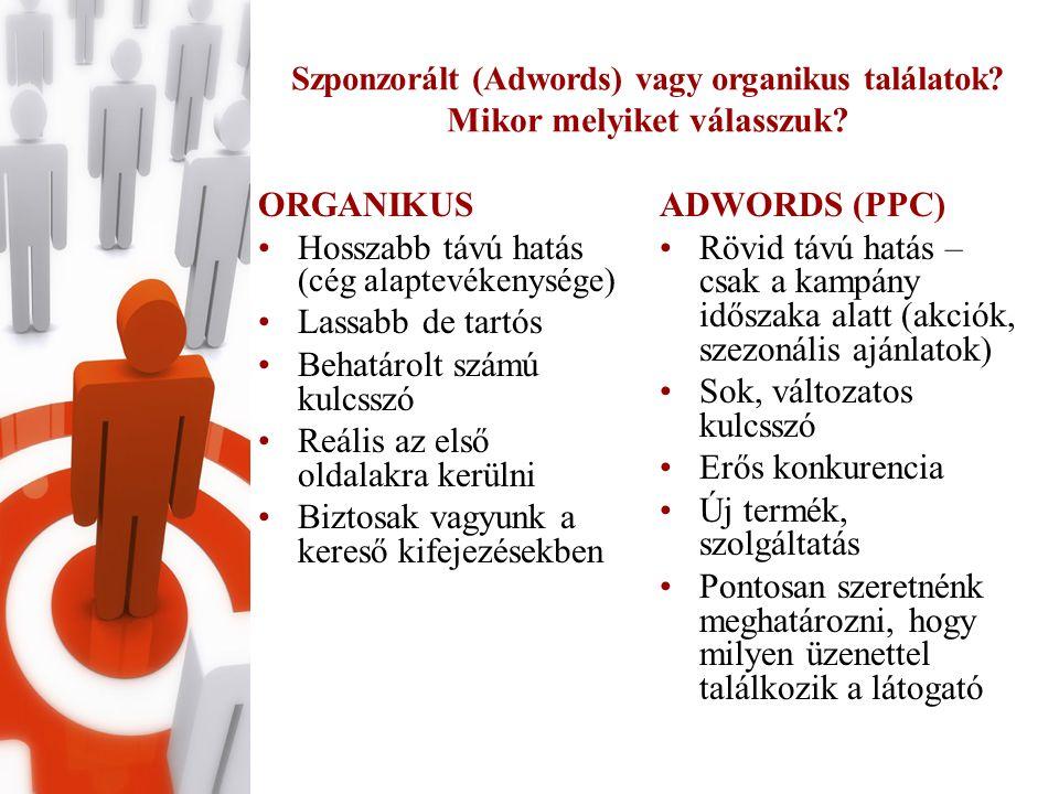 Szponzorált (Adwords) vagy organikus találatok. Mikor melyiket válasszuk.