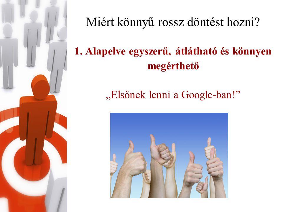 Komplex megoldások Egyedi, cégre/honlapra szabott javaslatok •honlaphoz kötődő (tartalom, szerkezet, szöveg, meta információk….