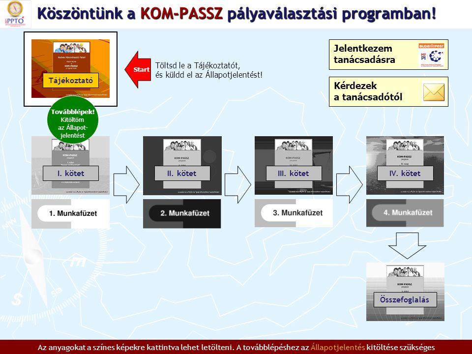 Köszöntünk a KOM-PASSZ pályaválasztási programban.