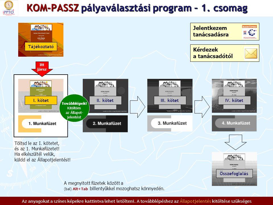 KOM-PASSZ pályaválasztási program – 1.