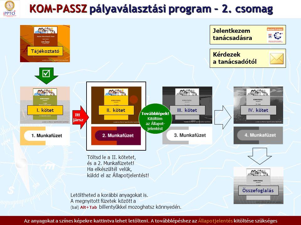 KOM-PASSZ pályaválasztási program – 2.