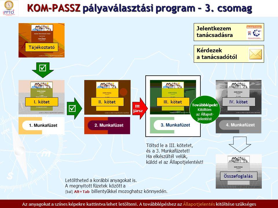 KOM-PASSZ pályaválasztási program – 3.