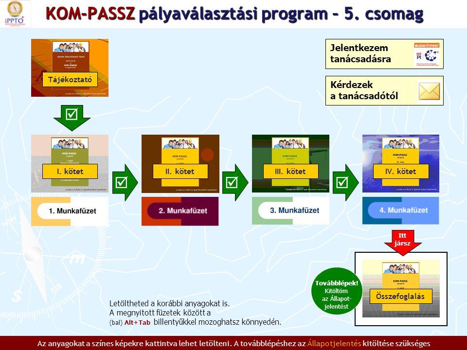 KOM-PASSZ pályaválasztási program – 5.