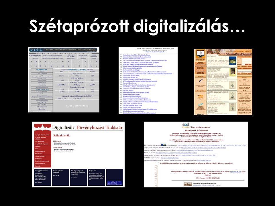 Szétaprózott digitalizálás…