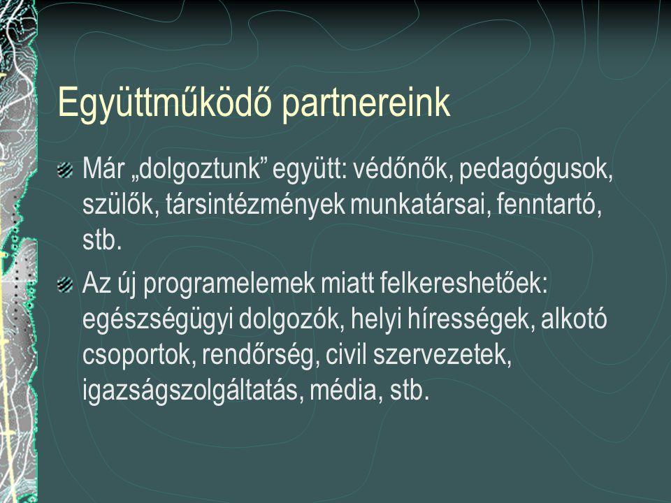 """Együttműködő partnereink Már """"dolgoztunk együtt: védőnők, pedagógusok, szülők, társintézmények munkatársai, fenntartó, stb."""