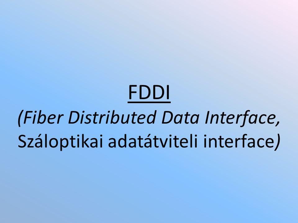 Az FDDI fizikai jellemzői – 1.