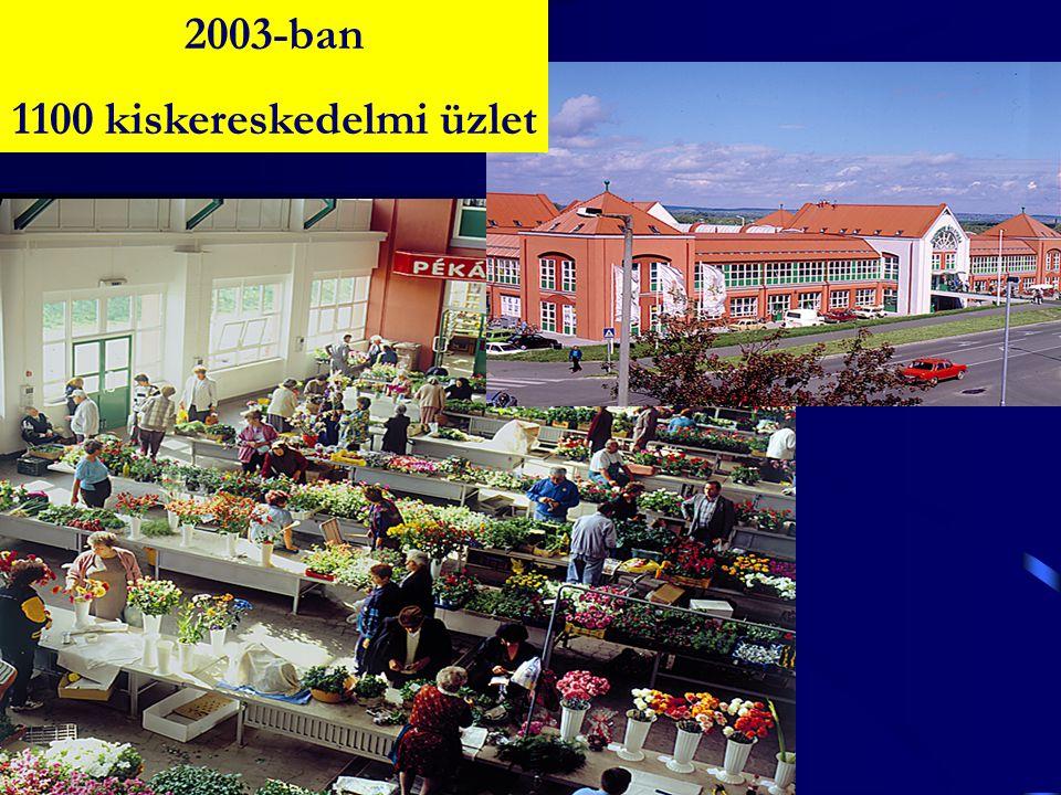 2003-ban 1100 kiskereskedelmi üzlet
