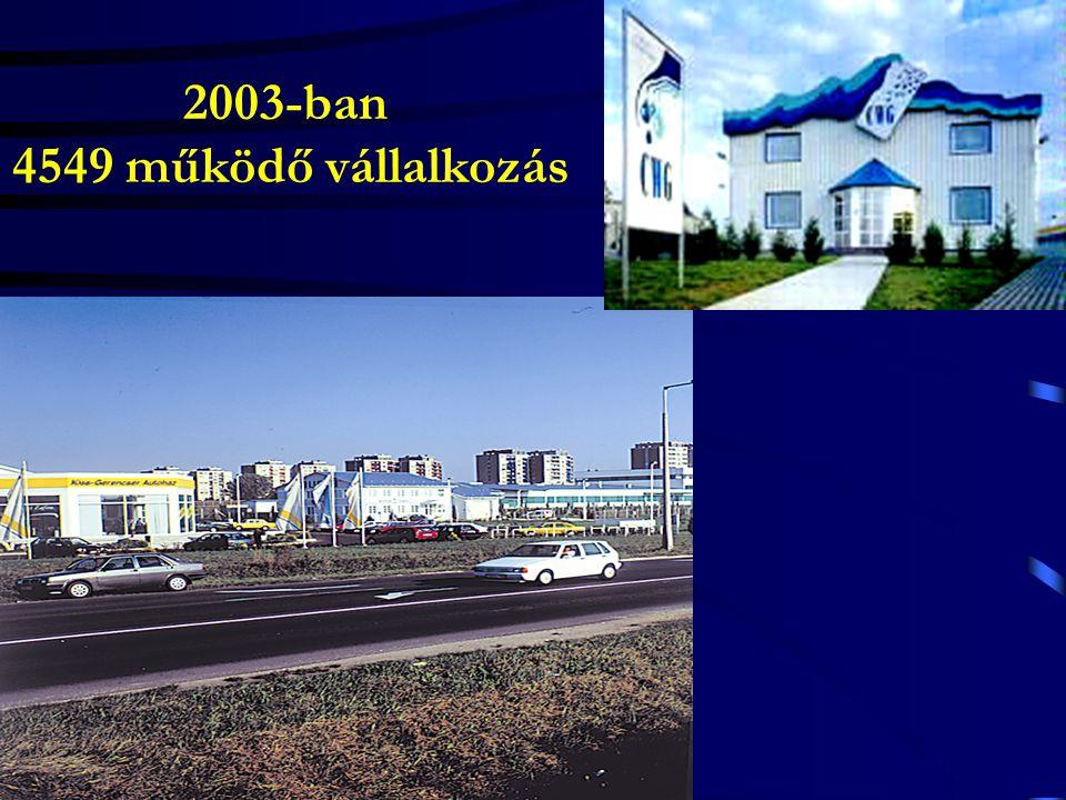 2003-ban 4549 működő vállalkozás