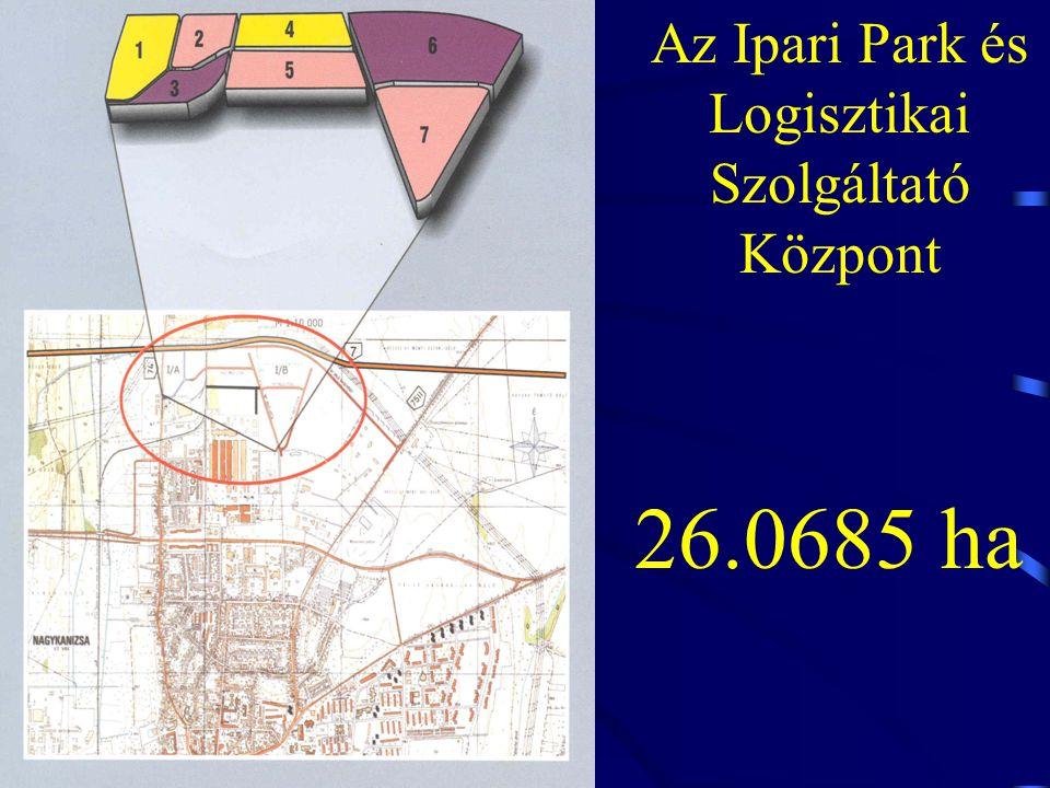 Az Ipari Park és Logisztikai Szolgáltató Központ 26.0685 ha