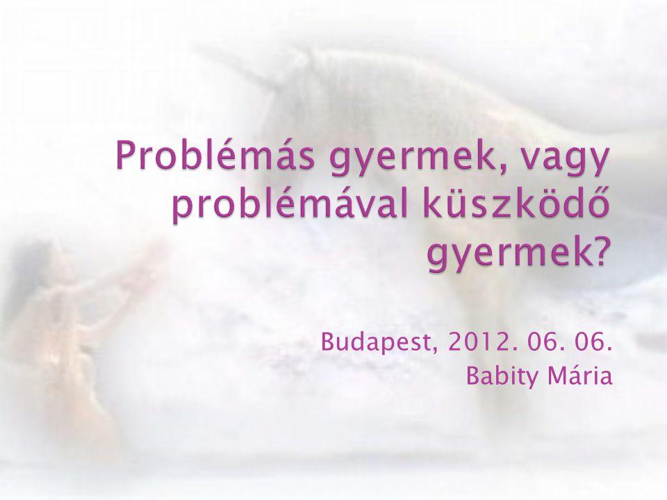 Budapest, 2012. 06. 06. Babity Mária