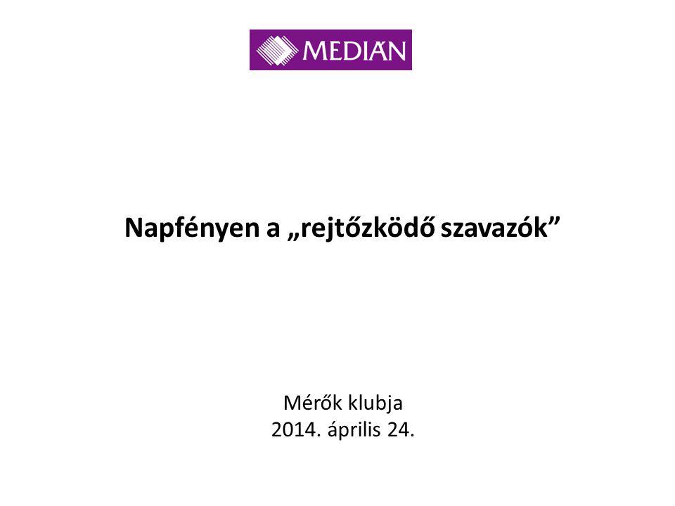 """Napfényen a """"rejtőzködő szavazók Mérők klubja 2014. április 24."""