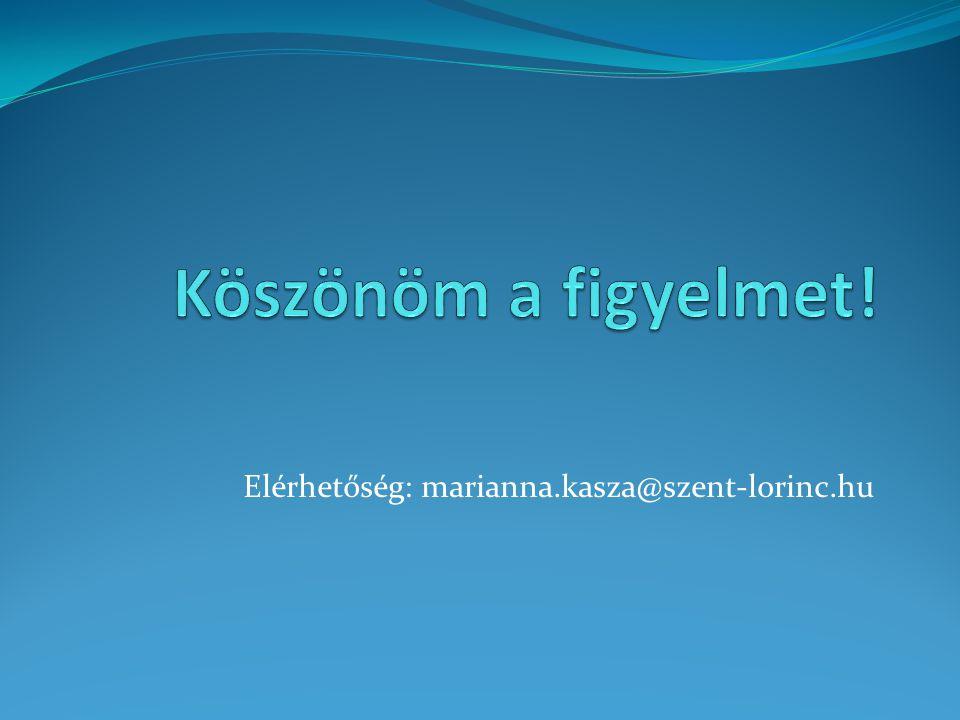 Elérhetőség: marianna.kasza@szent-lorinc.hu