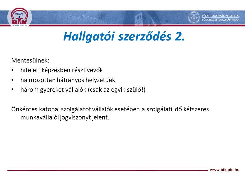 Hallgatói szerződés 2.