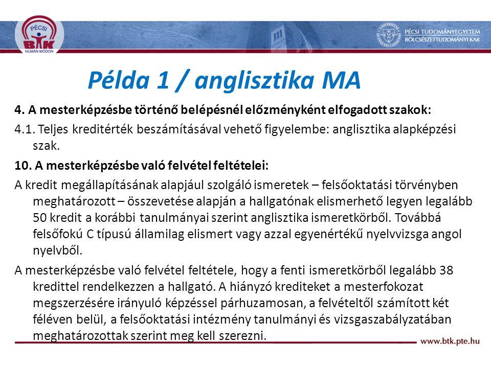 Példa 1 / anglisztika MA 4.