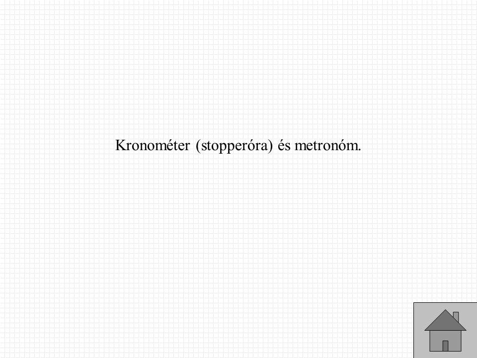 Kronométer (stopperóra) és metronóm.