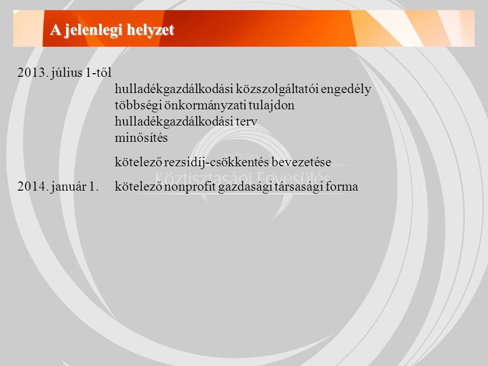 A hulladékgazdálkodási közszolgáltatói engedély 439/2012.