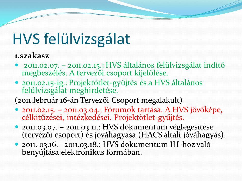 HVS felülvizsgálat 1.szakasz  2011.02.07.