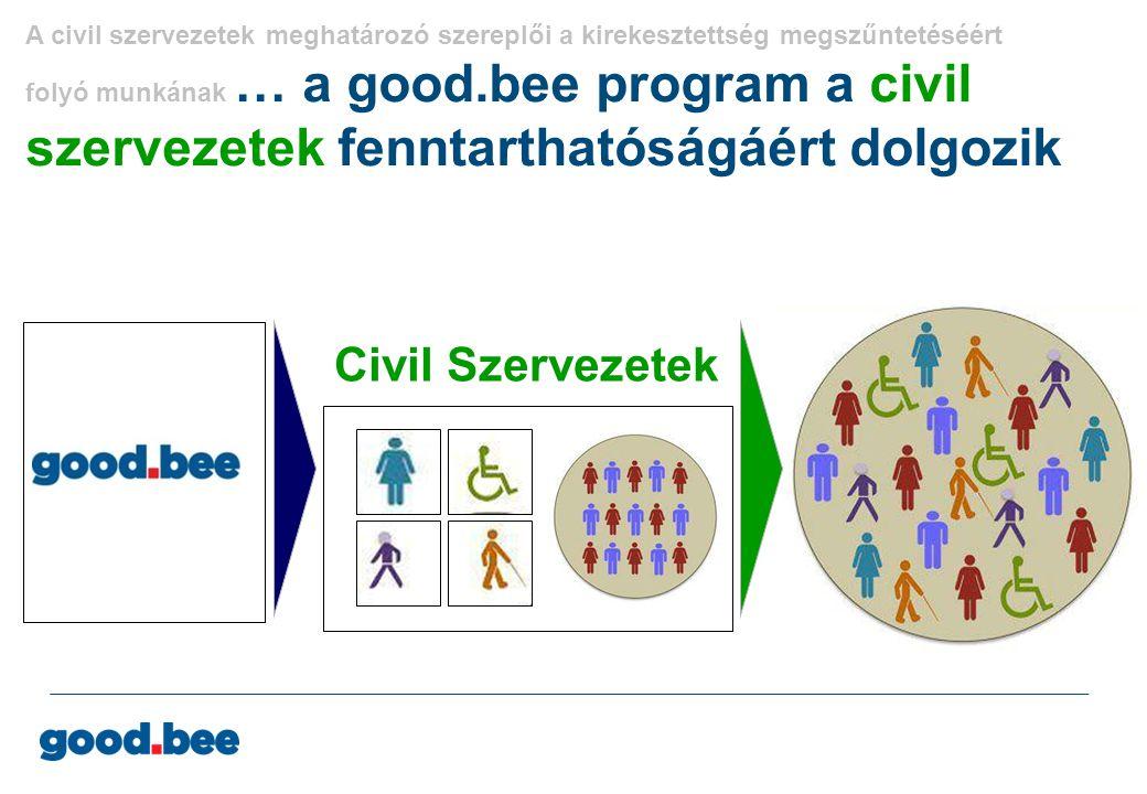 A civil szervezetek meghatározó szereplői a kirekesztettség megszűntetéséért folyó munkának … a good.bee program a civil szervezetek fenntarthatóságáé