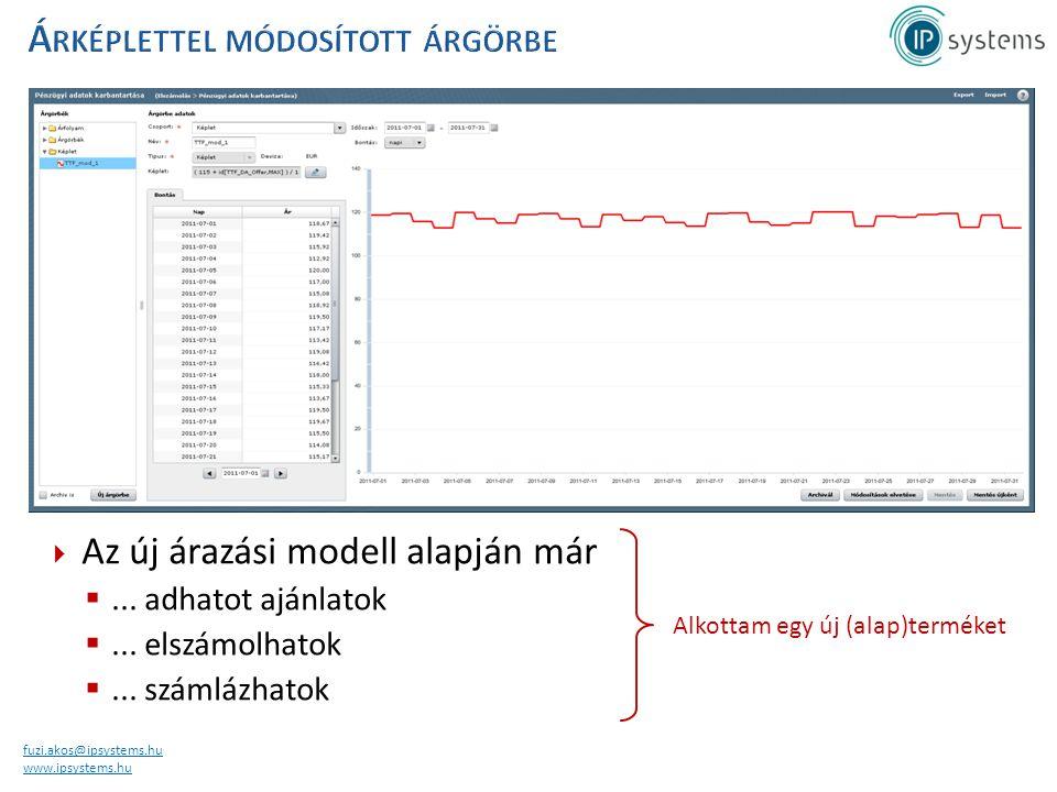 fuzi.akos@ipsystems.hu www.ipsystems.hu  Az új árazási modell alapján már ... adhatot ajánlatok ... elszámolhatok ... számlázhatok Alkottam egy új