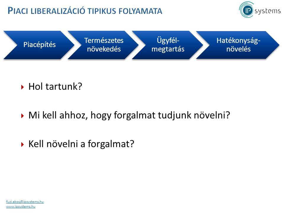 fuzi.akos@ipsystems.hu www.ipsystems.hu Piacépítés Természete s növekedés Ügyfél- megtartás Hatékonyság- növelés  Hol tartunk.