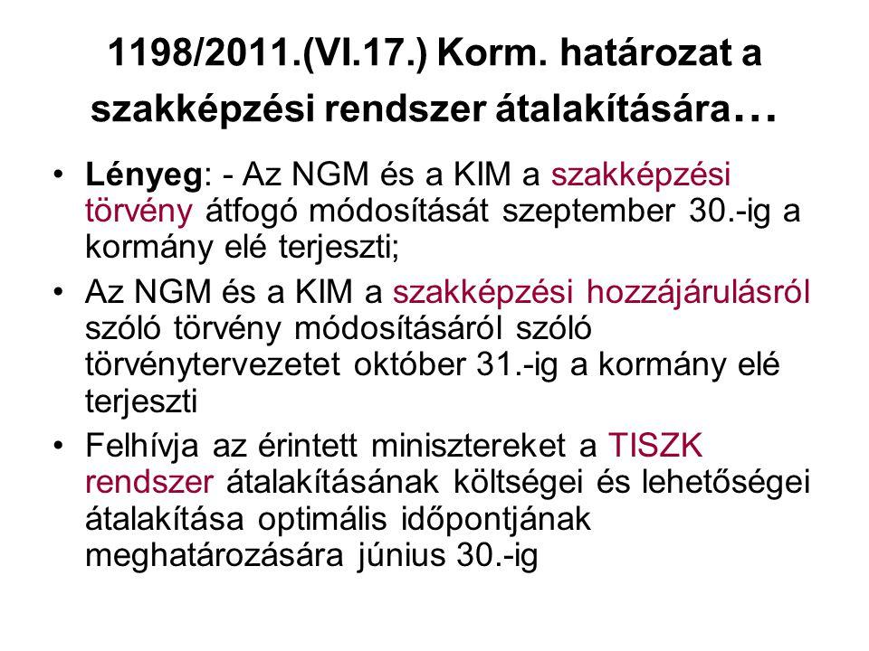1198/2011.(VI.17.) Korm.