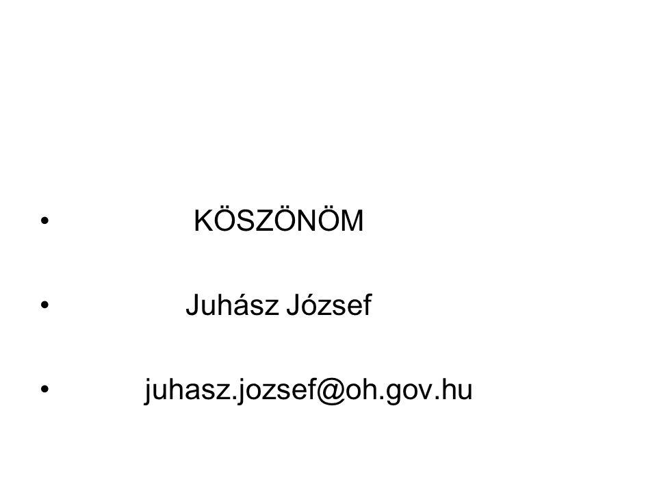• KÖSZÖNÖM • Juhász József • juhasz.jozsef@oh.gov.hu
