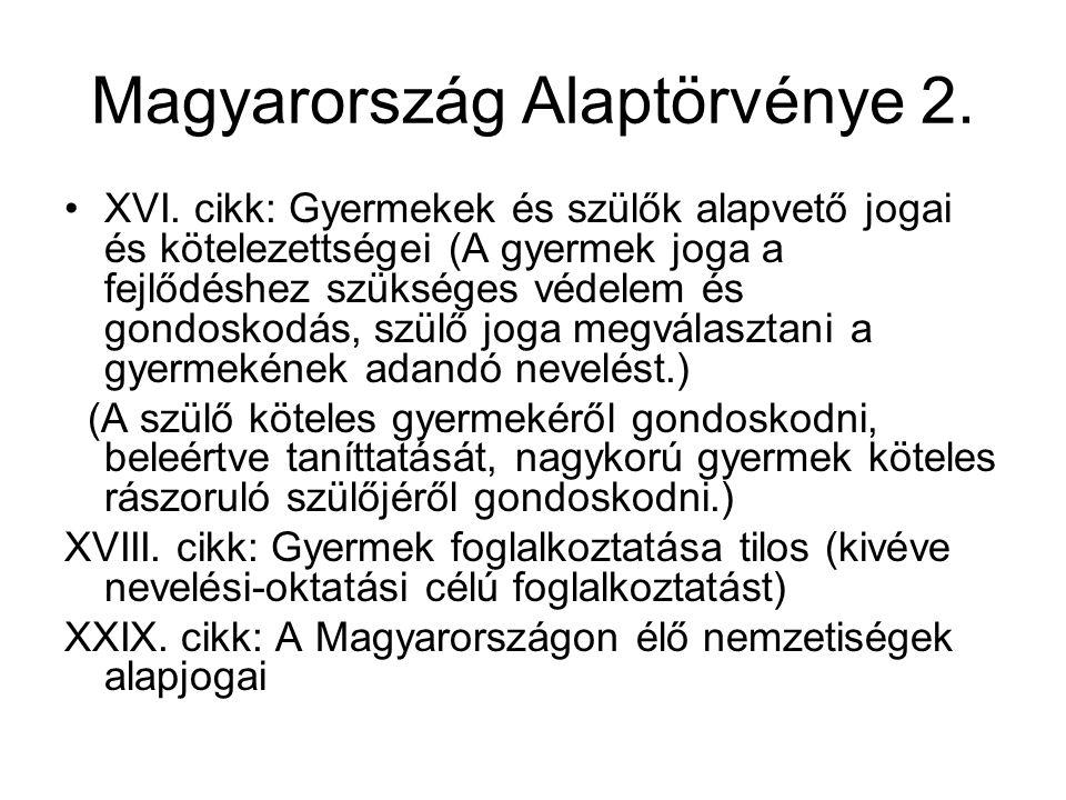 Magyarország Alaptörvénye 2.•XVI.