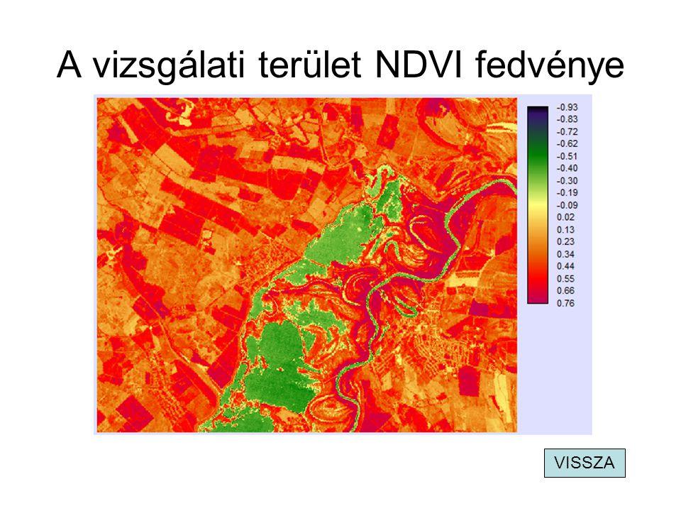 A vizsgálati terület NDWI fedvénye VISSZA