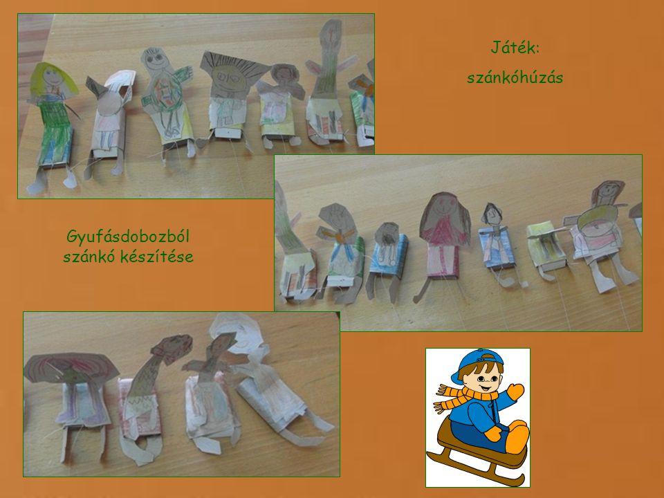 Játék: szánkóhúzás Gyufásdobozból szánkó készítése
