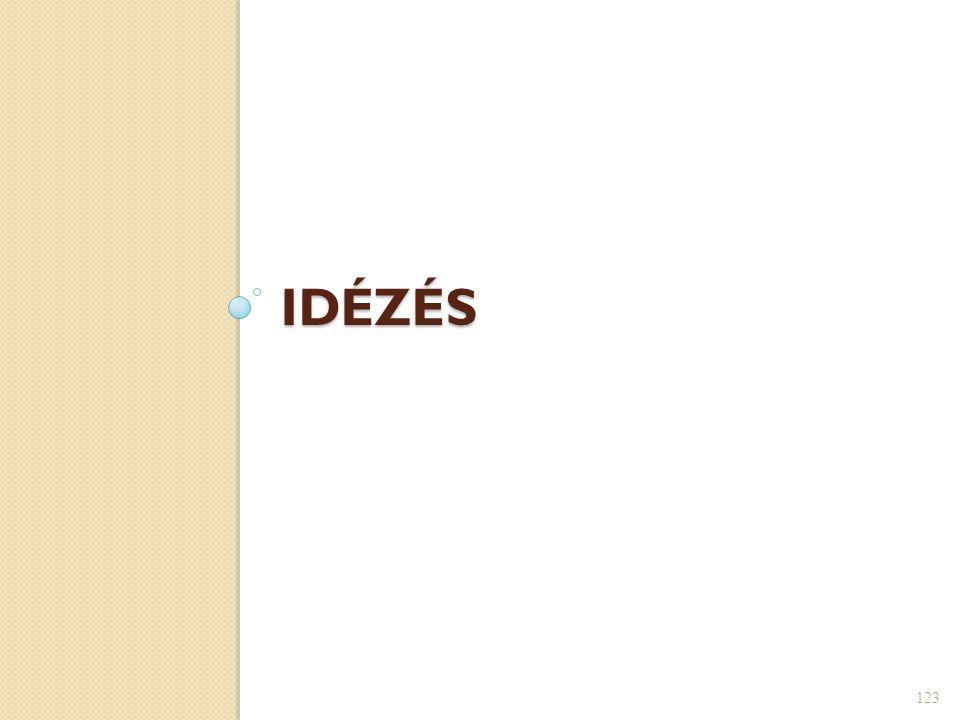 IDÉZÉS 123
