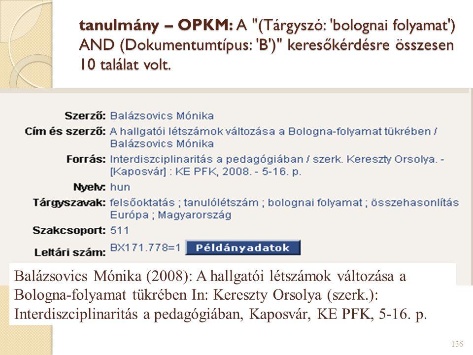 tanulmány – OPKM: A
